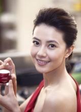 高圆圆广告大片 一袭红裙尽显优雅