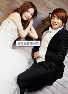 红薯夫妇婚纱照 郑容和徐贤浪漫婚纱写真