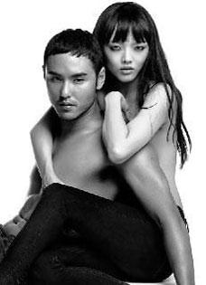 阮经天与福岛莉拉大尺度写真 半裸肉搏火辣拍广告