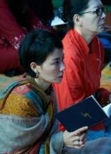 王菲参加佛教活动照大集合