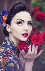 欧美清纯美女写真 古典浪漫