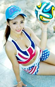 清纯美女户外排球运动装 俏皮动感