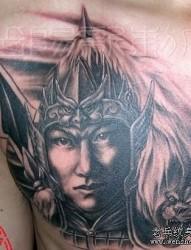 男生纹身图片之经典霸气帅气三国人物赵云赵子龙纹身图片