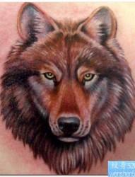 一幅背部关公头像纹身图片