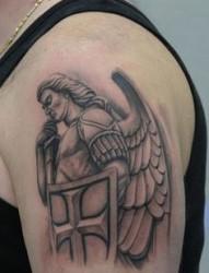 欧美天使手臂纹身