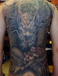 超有个性的神物 麒麟纹身