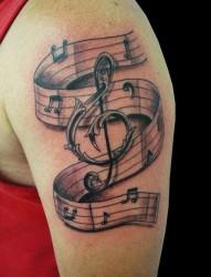 手臂上好看的音符纹身