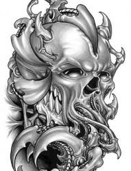 金属感的3d纹身手稿