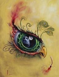 个性眼睛纹身手稿