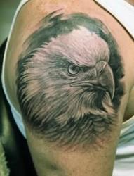 帅气逼人的老鹰纹身