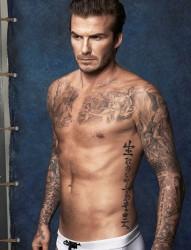 人生的赢家 贝克汉姆纹身写真
