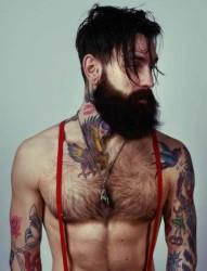 欧美男人的花臂刺青