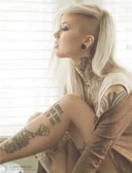 潮流欧美女性个性纹身