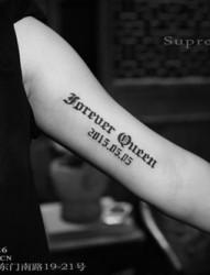 手臂英文个性纹身