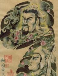 三国纹身图片:赵云赵子龙刘备半胛纹身图片纹身作品