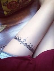 美女腿部性感纹身