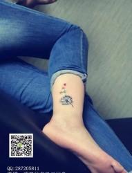 8张唯美漂亮的蒲公英刺青图案