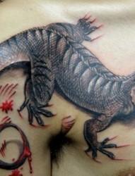 经典蜥蜴纹身