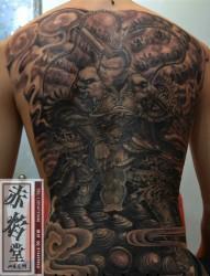 战斗圣佛纹身图案