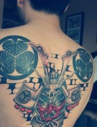 一款满背死神纹身图案