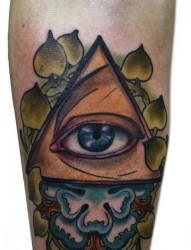 腿部时尚唯美的罂粟花纹身图片