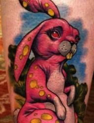 一组tattoo十二生肖の兔子纹身图案