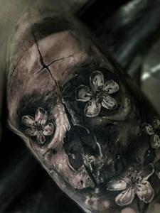 形象的骷髅立体个性刺青