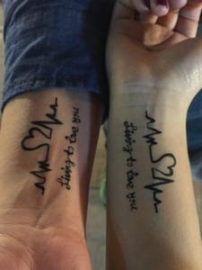 90后个性创意手臂情侣纹身图片