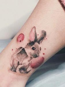 萌萌开爱的几款小兔子纹身