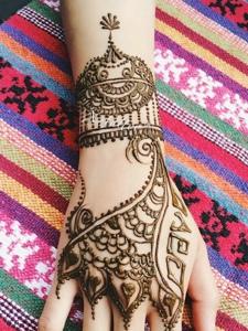 一组适合时尚女生的手背海娜纹身刺青