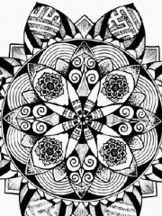 时尚简约的梵花纹身素材手稿