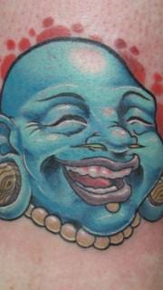 可爱的弥勒佛纹身图片