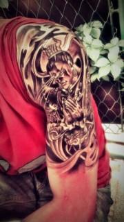 男生个性霸气的二郎神纹身