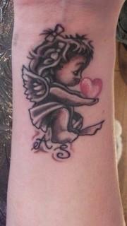 超萌超可爱的小天使刺青图案
