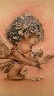超萌的小天使丘比特纹身