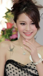 Angelababy个性经典纹身