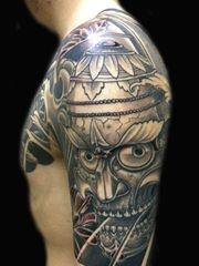 传统的时尚嘎巴拉半甲纹身图案