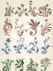 欧式花边花纹设计纹身手稿