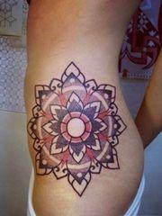 漂亮精致的曼陀罗梵花纹身大全