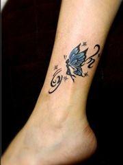 俏皮可爱的小精灵纹身图案
