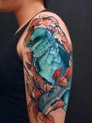 分享一组手臂上的小鸟纹身