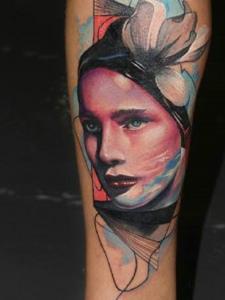 个性肖像纹身图案