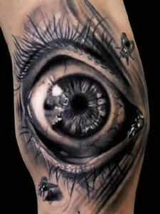 非常逼真的3d眼睛纹身刺青