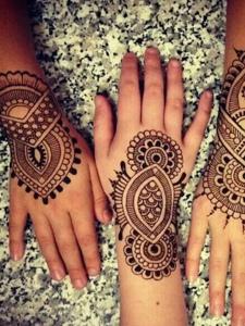 适合姐们花的手背时尚海娜纹身刺青