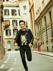 刘恺威米兰男装周帅酷街拍