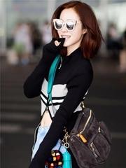 江一燕现身机场 赴里约担任奥运火炬手