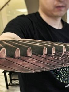 潮男手臂3dj机械纹身图案很霸气