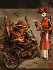中国风概念插画玩偶