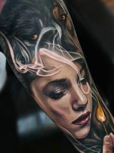 一组相当惊人的欧美写实纹身图案