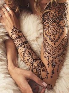 一组非常耐看的梵花纹身图案